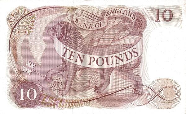 British 10 Pounds (1960-1977)
