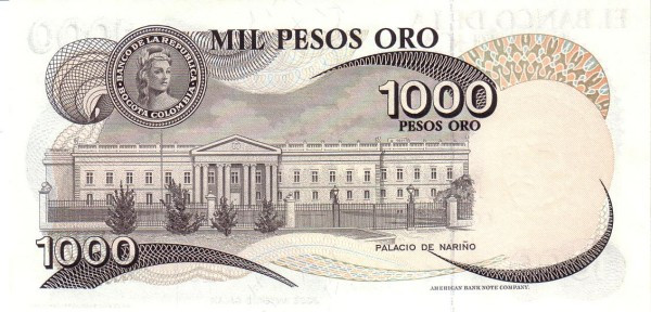 Colombia 1000 Pesos (1977-1980)