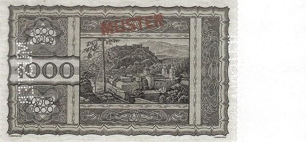 Austria 1000 Schilling (1927-1930 Oesterreichische Nationalbank)