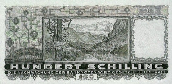 Austria 100 Schilling (1933-1936  Oesterreichische Nationalbank)