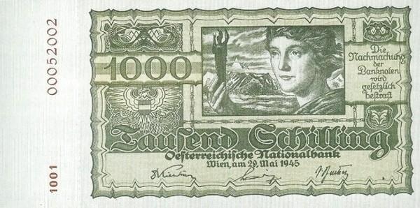 Austria 1000 Schilling (1945 Oesterreichische Nationalbank)