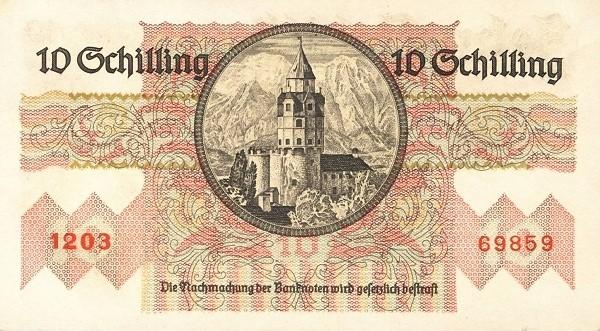 Austria 10 Schilling (1945-1947 Oesterreichische Nationalbank)