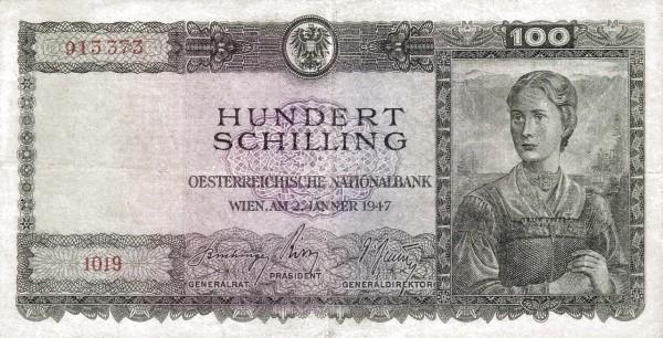 Austria 100 Schilling (1945-1947 Oesterreichische Nationalbank)