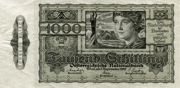 Austria 1000 Schilling (1945-1947 Oesterreichische Nationalbank)