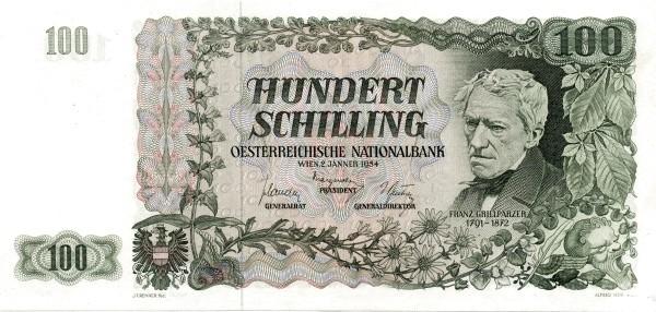Austria 100 Schilling (1954 Oesterreichische Nationalbank)