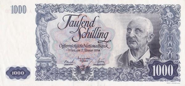 Austria 1000 Schilling (1949-1954 Oesterreichische Nationalbank)