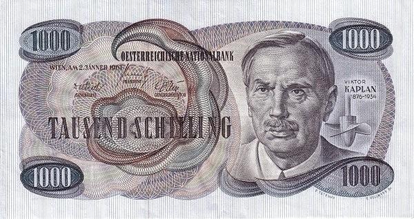 Austria 1000 Schilling (1961 Oesterreichische Nationalbank)