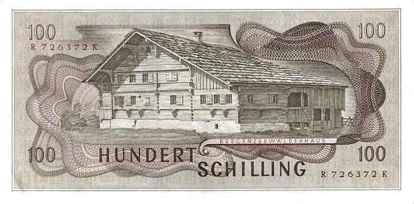 Austria 100 Schilling (1967-1970 Oesterreichische Nationalbank)