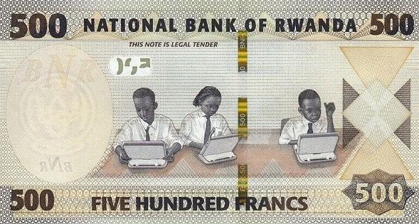 Rwanda 500 Francs (2019)