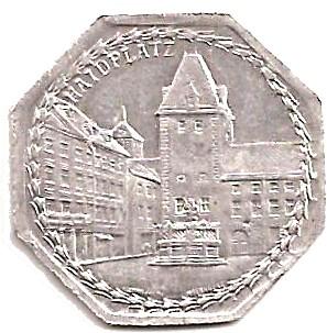 1922 Germany 25 Pfennig (Nürnberg-Fürther)