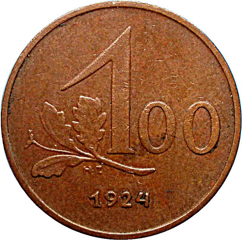 Austria 100 Kronen (1923-1924-2)